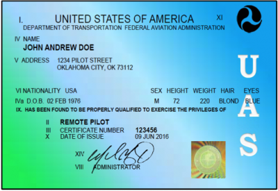 commercial drone certificate